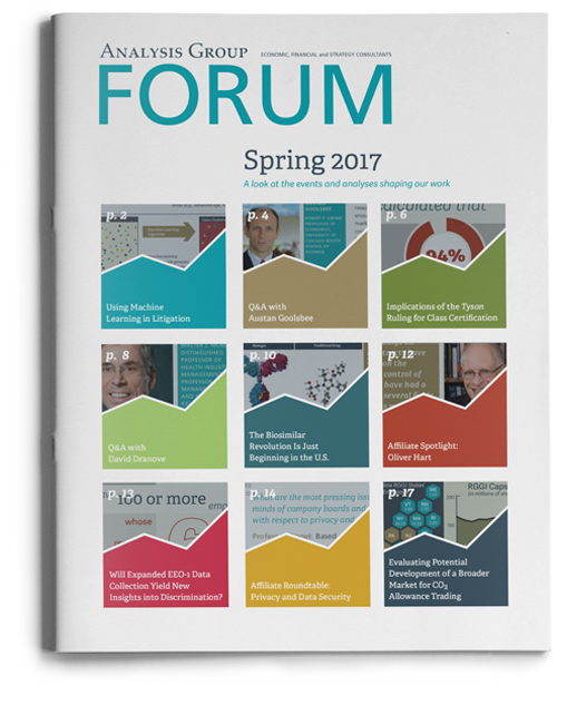 Analysis Group Forum: Spring 2017 - cover image