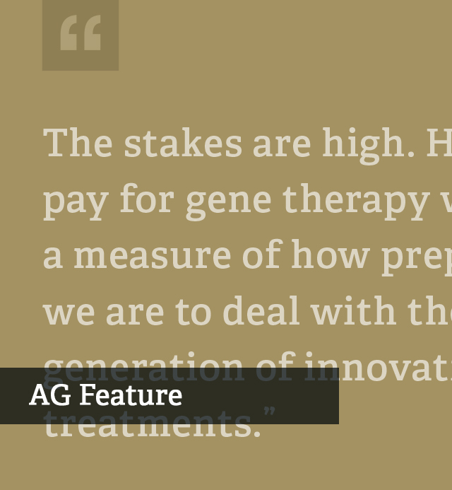 New Payment Strategies for Gene Therapy